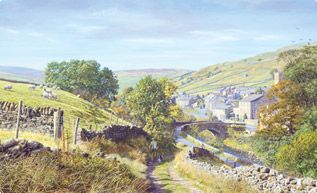 Muker, Swaledale, Yorkshire Dales painting
