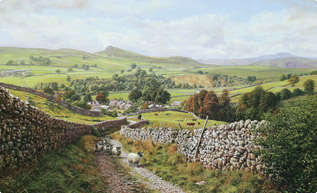 Ribblesdale, Yorkshire Dales painting