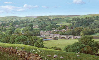 Summer in the Dales, Burnsall, Yorkshire painting