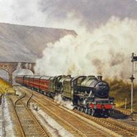 Settle to Carlisle train railway line painting